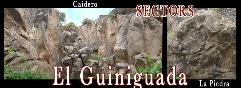 sectores de escalada del guiniguada